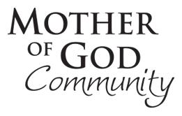 Mother of God Community, logo